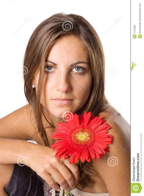 fiore donna donna e fiore fotografia stock immagine di nave