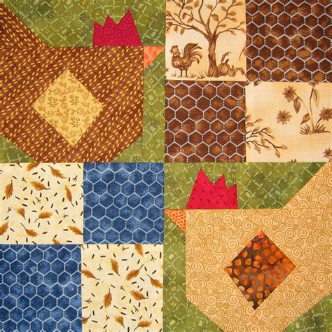 Chicken Quilt Patterns by Quilt Inspiration Free Pattern Day Chickens