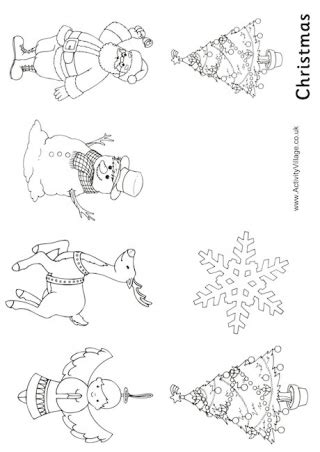 printable christmas cards activity village christmas decorations colouring booklet