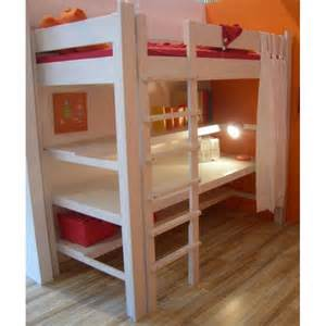lit mezzanine de style avec bureau bambins d 233 co