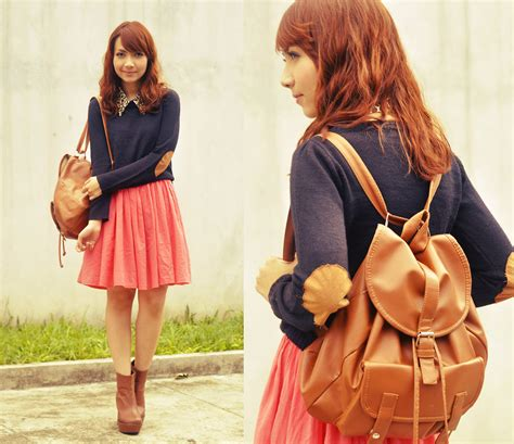 Gamis Simply Look Preppynavia 21 bestie k forever 21 sweater simply felice dress boots collar but still she stays lookbook
