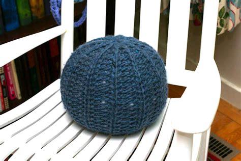knitting a pouf knit pouf a la cart