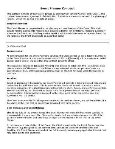 sample contract templates  microsoft word hloom