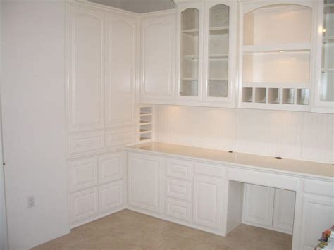 White home office with built in file cabinets ? Cabinet