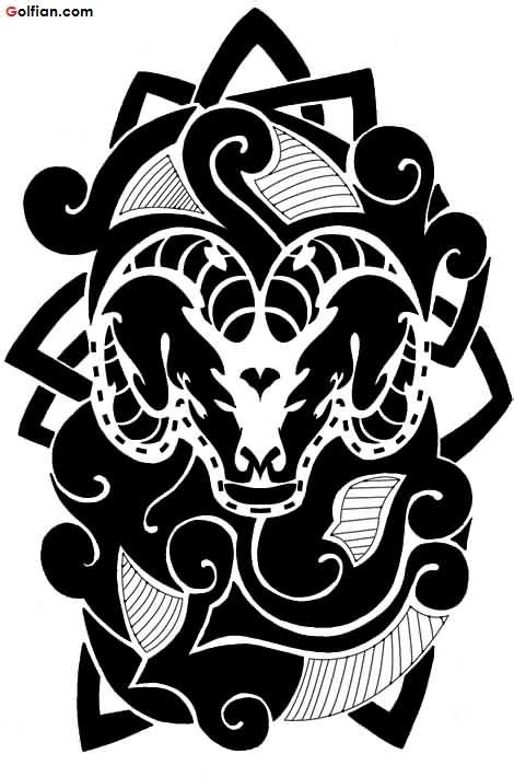 tattoo stencil printer ink black ink aries horn tattoo design for stencil segerios