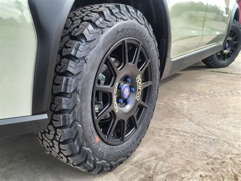 subaru crosstrek road tires all terrain tires how about bfg ko2 s for your crosstrek