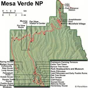 mesa verde colorado map cliff palace a photo from colorado west trekearth
