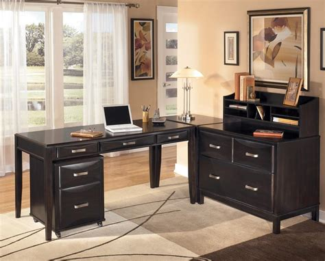 black home office desk with hutch furniture interior inspiring design ideas using l
