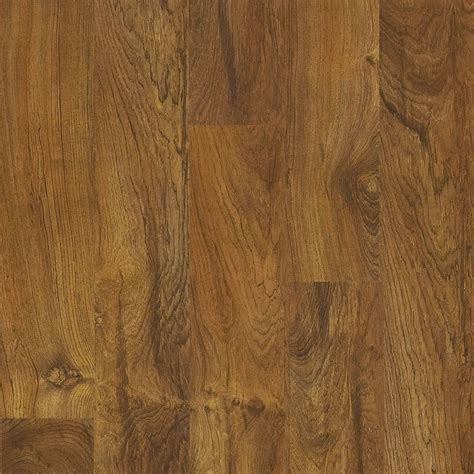 shop style selections 5 43 in w x 3 976 ft l brazilian teak wood plank laminate flooring at