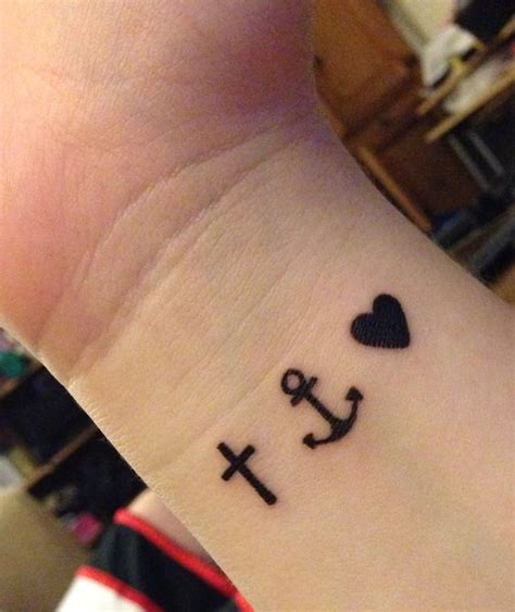 anchor for strength cross for faith heart for love but