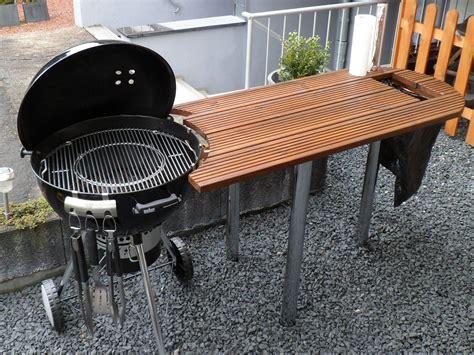 terrasse ideen 5198 tisch f 252 r weber grill one touch 57cm bbq