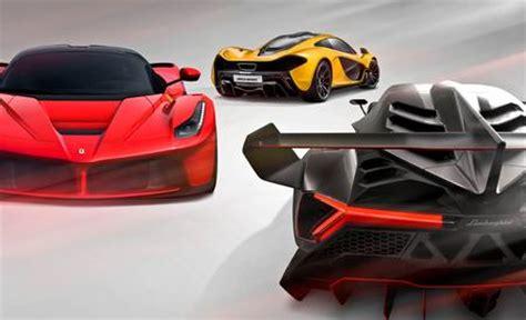 Laferrari Vs Lamborghini Veneno Hyping Hypercars 2014 Laferrari Vs 2014 Mclaren