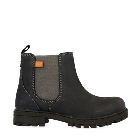 navy blue leather ankle boots chelsea style for
