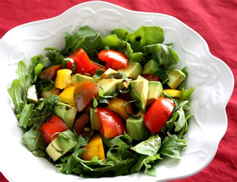 Salad by Avocado And Tomato Salad Recipe Dishmaps