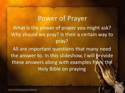 The Power Of Praying power of prayer