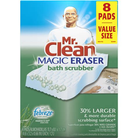 mr clean magic eraser rains scent bath scrubber