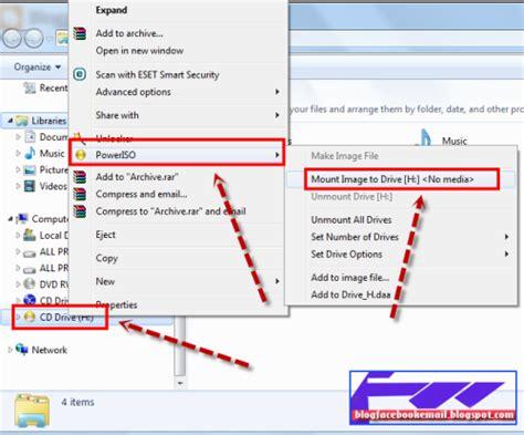 cara membuat file iso di hardisk cara membuat dan membuka mount file iso dengan power iso