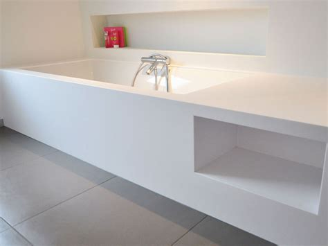 baignoire corian agencement salle de bain toulouse conception salle de