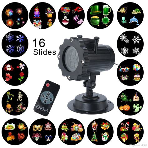 100 Outdoor Christmas Lights Projector Waterproof Lights Projector With 16 Slides