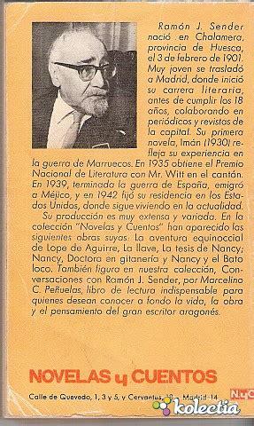 la tesis de nancy la tesis de nancy ramon j sender editorial magisterio espa 241 ol sa 1969 spain kolectia