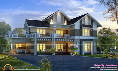 gorgeous new house model kerala home design at 3075 sqft february 2015 kerala home design and floor plans