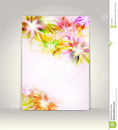 flower design templates flyer or brochure template stock vector illustration of
