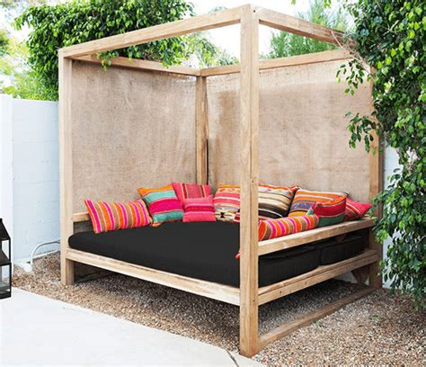 outdoor patio bed 25 money saving diy backyard projects to transform your