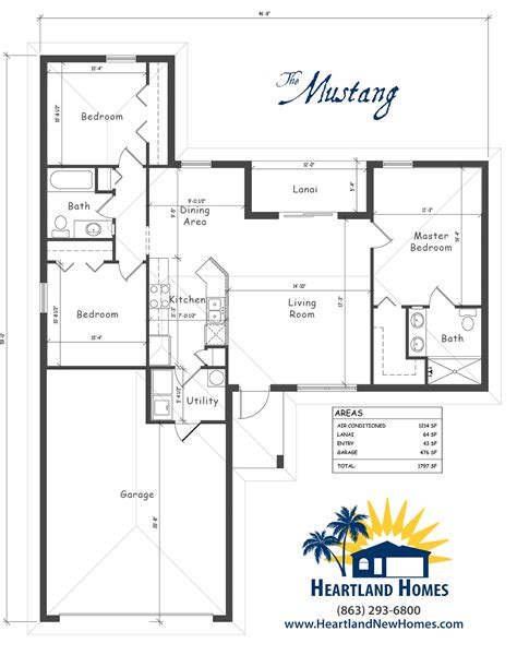 heartland homes floor plans the mustang heartland homes of florida
