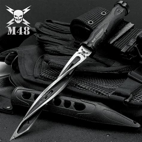 m48 knives united cutlery m48 cyclone tri edged spiraling fixed blade