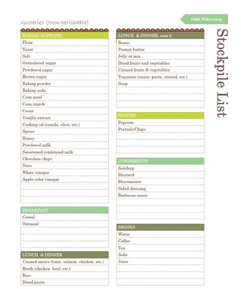make your own printable shopping list create your own grocery stockpile list