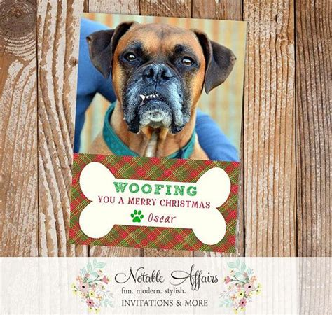 woofing   merry christmas pet holiday christmas card