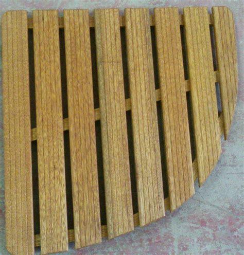 pedana doccia legno pedana in legno per doccia 64x64 angolare opus