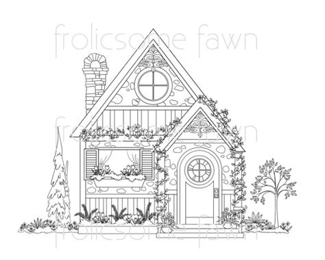 cottage house coloring page country cottage coloring page for adults house coloring page