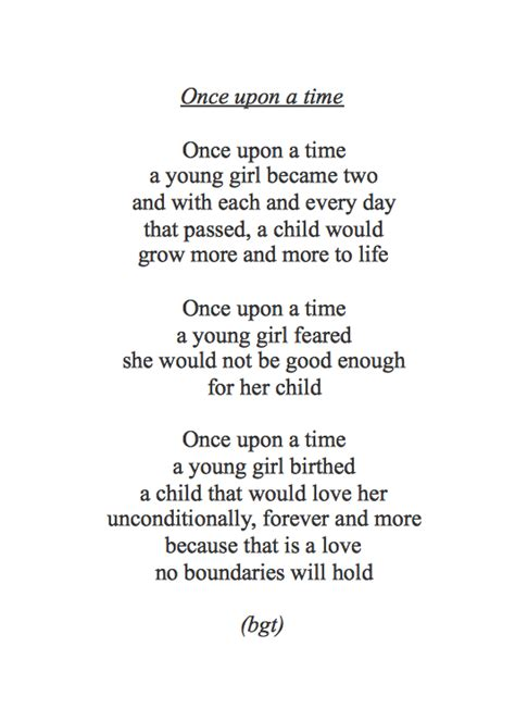 bgt poetry quot once upon a time quot by me for the wonderful person who