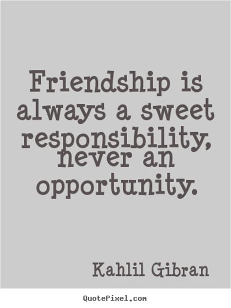 Wall Sayings Stickers kahlil gibran picture quotes friendship is always a