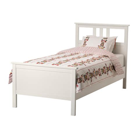 White Bed Frame Twin Hemnes Bed Frame Ikea