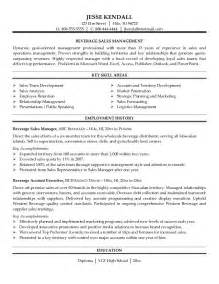 Beverage Director Sle Resume by Exle Beverage Sales Resume Free Sle