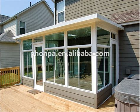 Sunroom Panels Aluminum Alloy Frame Material And Tempered Glass Roof