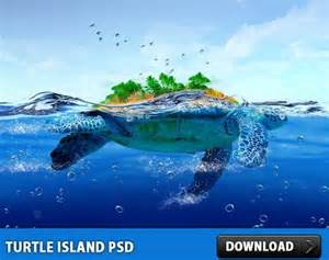 turtle island free psd file free psd in photoshop psd