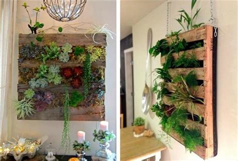 Wall Mounted Planters Pallet Wall Hanging Planters To Nature Pallets Designs