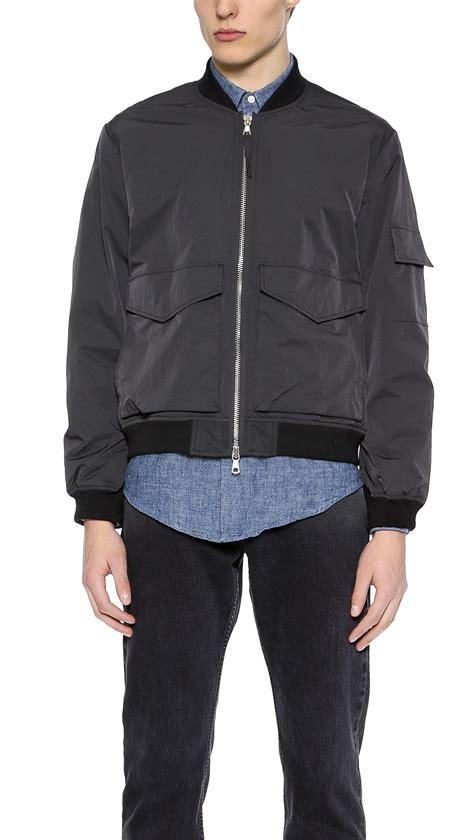 Bomber Pocket Black Bgsr our legacy patch pocket bomber jacket in black for lyst