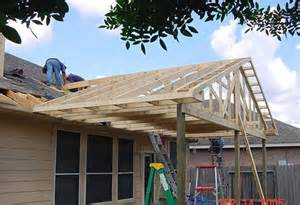 Building A Gable Porch Roof How We Build Houston Patio Covers Best Patio Covers In