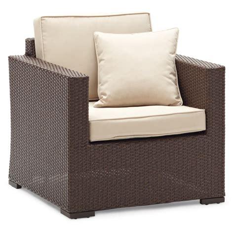 Strathwood Griffen All Weather Wicker Chair Dark Brown Strathwood Patio Furniture