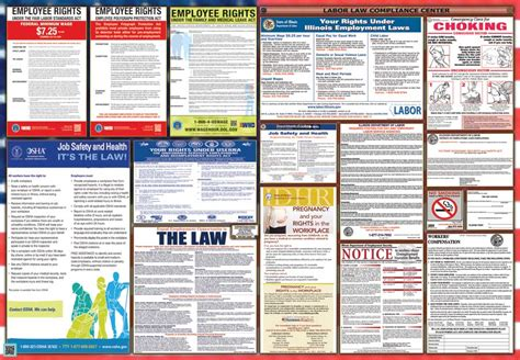 printable federal labor laws poster illinois labor law posters