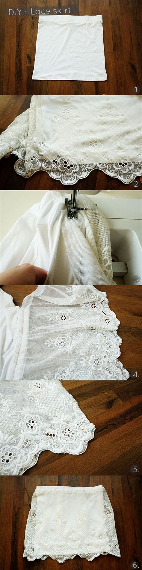 how to sew lace curtains diy lace skirt by wilma