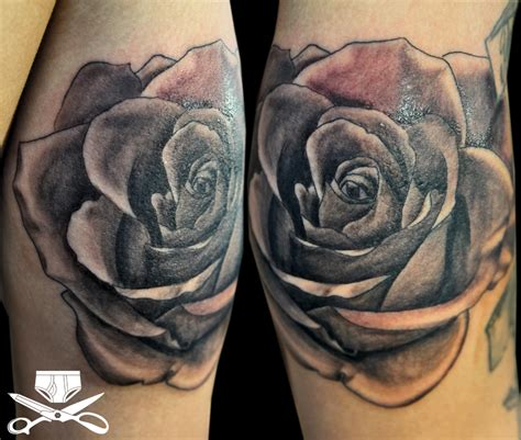 rose tattoo black and gray hautedraws