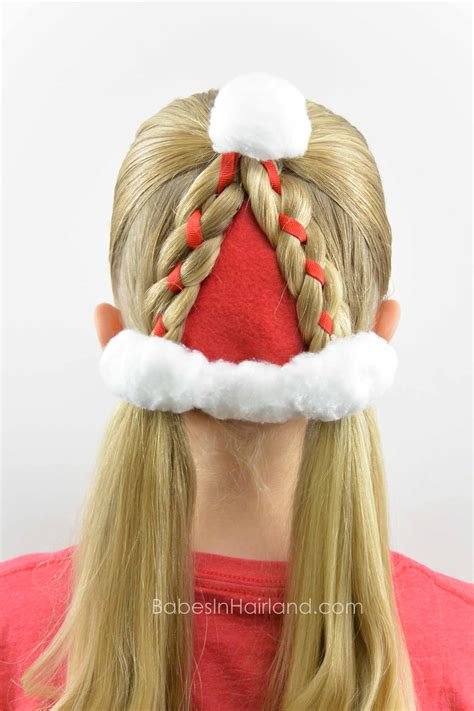 christmas hairstyles santa hat hairstyle hairstyle in hairland