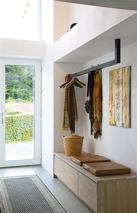 built in coat rack bench efficient practical entry suspended coat rack built