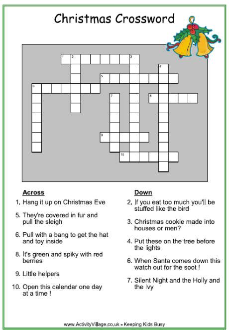 crossword clue vicars themes and christmas eve kids advent printable calendar template 2016