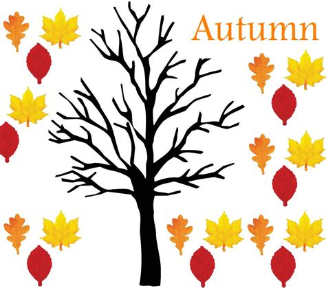 fall tree template fall tree pattern clipart best